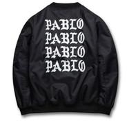 Wholesale Life Jackets Pockets - Yeezus.Jackets I feel like Paul Pablo Kanye West The Life Of Pablo Kanye MA1 Bomber Jackets Brand Thick Warm Bombers Coats Men