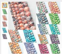 Wholesale Earring Setting 12mm Round - Wholesale 2pc set package High Quality Agate Round Loose Beads 4 6 8 10 12mm Dyed Natural Stone Beads For Jewelry Making Earring Accessories