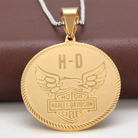 Wholesale Stainless Steel Eagle Necklace - Men's stainless steel pendants, motorcycle pendants, stainless steel letters, eagle wings, pendants