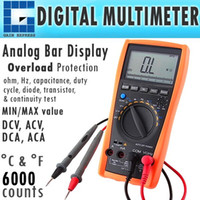 Wholesale Ac Dc C - VC-99 Professional Digital Multimeter Tester F C Thermometer K-Type AC DC Voltage Ohm Hz 6000 counts Frequency DCA ACA Resistance