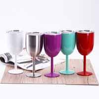 Wholesale Toy Glasses Sale - Hot Sales 9 colors Gifts Item 10oz Stainless Steel Vacuum Lepin Double layer thermos cup New Kids Toys Sell Red Wine Mugs
