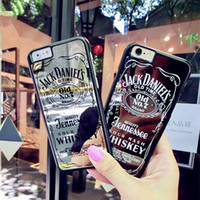 Wholesale Jack Bag Wholesale - Creative New Mirror Letter Jack For iPhone 7   6s   5s Tide Brand Phone Case PC Hard Case with Retail Bag DHL Free Shipping