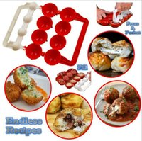 Wholesale Newbie Meatballs Mold Stuffed Fish Meat Balls Maker ABS Homemade Mould DIY Kitchen Cooking Tools OOA2065