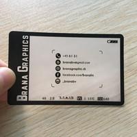 визитные карточки pvc оптовых-200 шт./ один дизайн для визитной карточки ID карты Завод пользовательские для твердой бумаги прозрачный ПВХ матовый пластиковая карта