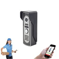 Wholesale video peephole night vision online - Aly802 WiFi Video Door Phone Peephole Camera P Night Vision Built in GB TF Card