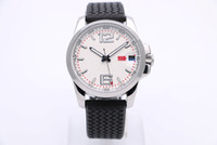 Wholesale Watch Tyres - 44MM Fashion And Elegant Mens Wrist Watch Watches Transparent Back Automatic Movement White Dial With Rubber Band Of Tyre Texture