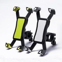 bisiklet için cep telefonu tutacağı toptan satış-Yeni kaymaz Evrensel 360 Dönen Bisiklet Bisiklet Telefon Tutucu Gidon Klip Akıllı Cep Cellphone Için Montaj Braketi Standı