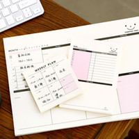 Wholesale Schedule Book - Wholesale- 50pageWeekly Monthly Plan Tear Mini Notebook Check list Daily Memo Pad Message Note Work Schedule Desktop Scratch Pad Memos Book
