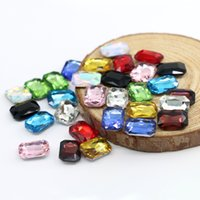 Wholesale Octagonal Crystal - 8x10mm Chinese crystal Octagonal Shape 50pcs bag Glass K5 Point Back Fancy Stone Silver Foiling Gemstone (10 Different Color Available)