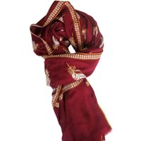 Wholesale Nepal Scarfs - Nepal Indian Embroidered Scarfs Kashmiri Embroidered Warm Thick Shawl KH-5
