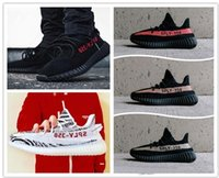 Wholesale Bold Orange - New 350 Boost Beluga 2.0 Grey Bold Orange AH2203 SPLY Boost 350 V2 Zebra Cream White Core Black Kanye West Running Shoes