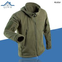 Wholesale Cargo Soft - Wholesale- Winter 2016 Outdoors Tactical Cargo Zipper Pocket Sharkskin Soft Shell Warm Thelmal TAD Fleece Hoodies Cargi Army Jacket Men