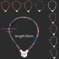 Wholesale National Style Necklace - high quality 067 Bohemian national style diy Snap Button Charm Magnetic Clasp Pendant Necklace For women and men Fit 18mm button