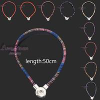 nationale diy großhandel-hochwertige 067 böhmischen nationalen Stil diy Druckknopf Charme Magnetverschluss Anhänger Halskette für Frauen und Männer Fit 18mm Taste