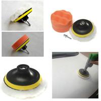 Wholesale Car Polish Pad Set - 3 inch Polishing Buffer Sponge Pad Set + Drill Adapter For Car Polisher