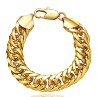 Wholesale womens gold link bracelets - INANIS Unisex Mens Womens 18KRGP Bracelet Bangle Wristband Link Chains Snake Chains 20cm Length Fashion Jewelry Best Gift