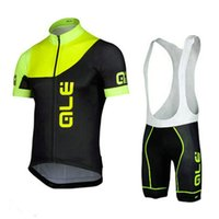 Wholesale Bicyle Shorts - Hot Sale! ALE Men Cycling Clothes Cycling Jersey Set Shorts Sleeve Ropa Ciclismo Bike Clothing Bicyle Sportwear E1016