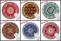 Wholesale Circular Table - Custom Wholesale Sales Champion Persian Carpet Series of Art Prints a Circular Mousepad for Gifts for PC Table MATS