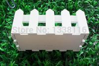 Wholesale Fence S - 16cm wooden fence vase Artificial flower vase home decoration accessories Receiver Flower Set Vase 67