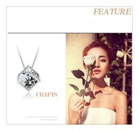 Wholesale Crystal Window Jewelry - Silver jewelry Korean women LOVE cube necklace pendants wholesale window (without chain) free shipping(3)