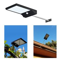Wholesale Solar Led Light Pole - Super Bright 36 LED Solar Powered Motion Sensor Lighting Wall Lamps with Mounting Pole Outdoor Solar Garden Street Light Emergency Lamp