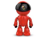 rote cmos linse großhandel-Maxde 2017 Neue Wireless Red Roboter WIFI Kamera IP P2P CCTV Cam Babyphone Überwachung HD H.264 Objektiv IR für Android iOS