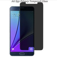 Wholesale Screen Protectors Privacy - For iphone X 8 7 6s plus 5 5s Samsung Note 5 S7 S6 J7 Prime 0.33mm 9H Privacy tempered glass Anti-spy screen protector
