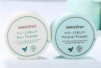 kore markalı toptan satış-Kore Ünlü Marka Innisfree Hiçbir Sebum Mineral Tozu + Bulanıklık Toz Yağ Kontrolü Gevşek Toz Makyaj Ayarı Vakıf 5g