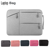 Wholesale 13 Inch Laptop Briefcase - Unisex Portable Notebook Handbag Air Pro 11 12 13 14 15.6 Laptop Bag Sleeve Case For Dell HP Macbook Xiaomi Surface pro 3 4