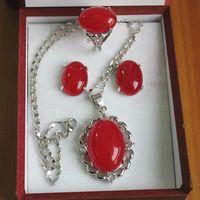 hängende uhr halskette kristall großhandel-Goldüberzogenes Wort feine Peridot-Ohrringe / Ring / Halsketten-hängende gesetzte Uhrgroßverkauf-Halskettenschmucksachesätze für Frauen anime Kristall