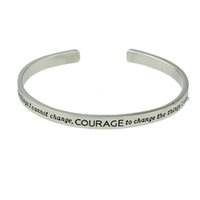 Wholesale Punk J - Indian J ewelry Punk Style Silver Color Bracelets&Bangles Black Enamel Letter Thin Cuff Bracelets Female Accessories