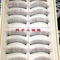Wholesale Wispy Eyelashes Wholesale - Wholesale- 10 Pairs Natural Eyelashes Makeup Lashes Handmade False Eyelashes Wispy Eye lash Eyelash Extension Fake Eyelashes Free Shipping