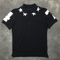 Wholesale Ralph Polo Women - 2017 summer star 47 high quality printed band new men casual fashion short sleeved polos shirts women off-white polo size S-XL kanye west