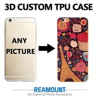 Wholesale Custom Armbands - 300 pcs Custom design for embossing case for iPhone 7 7plus 6 6s plus DIY 3D case for iPhone 5 5s 6 6s back cover
