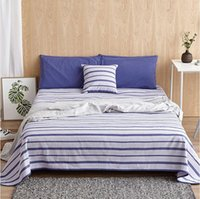 Wholesale Old Home - Summer sleeping mat Old Coarse Cloth hand-woven 100% cotton Bedding article White and blue stripes Improve sleep