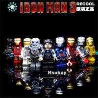 Wholesale Decool Iron Man - 2017 New Decool 9pcs lot Super Heroes Iron Man 0160-0168 Blocks Bricks Toys Tony Stark Best Children Gift As Birthday Gift For Kids