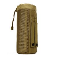 Wholesale Molle System Pouches - Wholesale 2017 Outdoors Molle System Tactical Water Bottle Pocket Holder Drawstring Pouch Bag Durable Nylon Equipment Free Shipping