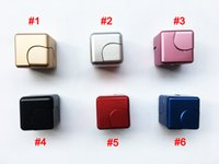 Wholesale Cube Aluminum - Upgrade Metal Fidget Cube aluminum Alloy Spinner hand cubes Square Alloy Finger Decompression spinners Anxiety Beyblade Anti Stress Toys
