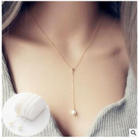 Wholesale Act Pieces - Contracted brief paragraph chain accessories Korean single pearl necklace pendant clavicle female buckwheat piece deserve to act the role of