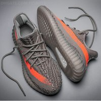 Wholesale Men Word - DHL FREE CP9366 CP9654 Kanye West Sply Boost 350 V2 Black word 350V2 real booots Men Women sneaker sport Running Shoes with box