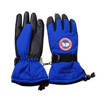 Wholesale Christmas Goose - Canada winter warm goose gloves outdoor thick snow ski glove mittens unisex waterproof finger glove christmas gifts for women men sale