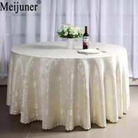 Meijuner New Hot Sale Luxuriant Jacquard Weave Peony Decorative Design  Hotel Home Table Cloth Banquet Round Tablecloth For Wedding