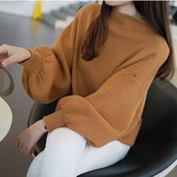 Wholesale Plus Size Sweater Poncho - Wholesale-Fall winter women turtleneck poncho pullover sweater fashion plus size loose lantern sleeve batwing sweater ladies knitted tops
