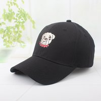 Wholesale hot dog hat - Hot Sale New Fashion Brand Breathable Snapback Caps Strapback Baseball Cap Bboy Hip-hop Hats For Men Women Fitted Hat Black White Pink Dog