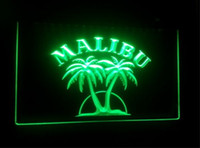 Wholesale Rum Signs - b21 Malibu Rum beer bar 3d signs culb pub led neon light sign home decor crafts