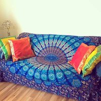 Wholesale indian beds - Hot Sale Tapestry Indian Mandala Tapestry Hippie Chiffon Wall Hanging Tapestries Boho Bedspread Yoga Mat Blanket Bed Table Cloth