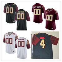 Wholesale Florida State Jerseys - Custom Mens Florida State Seminoles College Football Limited white red black Personalized Stitched Any Name Number 12 Francois Jerseys S-3XL