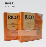 Wholesale Reeds For Sax - Wholesale- Free Shipping RICO Derppde Alto Eb Sax Reeds Strength 2.0#, 2.5#, 3.0# Orange box of 12