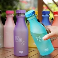 Wholesale Plastic Frosted Cups - 6 Candy Colors Unbreakable Frosted Leak-proof Plastic Cup 550mL BPA Free Portable Water Bottle for Travel Yoga Running Camping