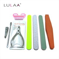 LY-005 block cutter - NEW Nail Art Manicure Set Nail Care Tools with Mini Finger Nail Cutter Sanding Files Buffer Block Pedicure Tools